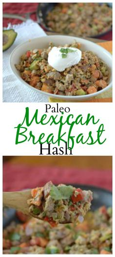 Change up your breakfast with this delicious #paleo Mexican Breakfast Hash! So simple and easy to make! #healthy
