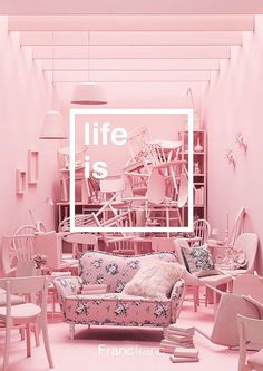 Pink / color / pink in 2019 pink aesthetic, pastel pink, everything pink. Design Set, Store Design, 3d Design, Design Color, Interior Exterior, Interior Design, Interior Styling, Deco Rose, Magazin Design