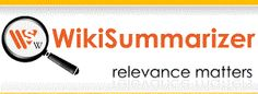 Free Technology for Teachers: Try the New Wiki Summarizer Features