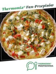 Tarta na słono jest to przepis stworzony przez użytkownika anetawilczewska. Ten przepis na Thermomix® znajdziesz w kategorii Słone wypieki na www.przepisownia.pl, społeczności Thermomix®. Vegetable Pizza, Quiche, Catering, Food And Drink, Appetizers, Vegetables, Breakfast, Pies, Vacuum Flask