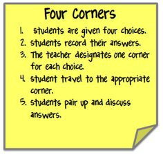 Cooperative learning strategy...good one!