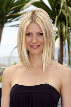 Gwyneth's longer, parted bob was a trail-blazer in 2008. With extra length in the front, the look flatters most face shapes and is an easy one to style.   - HarpersBAZAAR.co.uk