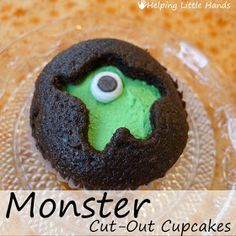 Pieces by Polly: Monster Cut-Out Cupcakes