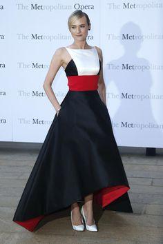 Diane Kruger de Parabal Gurung en el estreno de Eugene Onegin en el Metropolitan Opera House