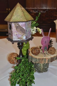 Creations By Christie: Woodland Table Centerpieces