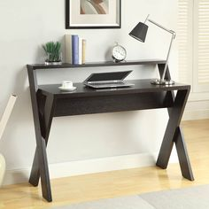 Shop Convenience Concepts  125707 Newport Desk with Shelf at ATG Stores. Browse our desks, all with free shipping and best price guaranteed.