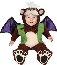 Flying Monkey of Oz Baby Bunting Costume-Baby Bunting Costume Flying Monkey Costume, Baby Monkey Costume, Monkey Costumes, Monkey Baby, Funny Baby Costumes, Toddler Costumes, Cute Costumes, Halloween Costumes For Kids, Halloween Ideas