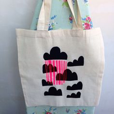 Screen printed shopper bag by nooandnel