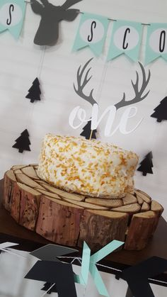 Wild First Birthday Woodland Camping Deer Antler One Party Cake Topper by eventprint on Etsy