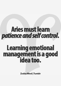 Yea I'll start with the emotional management, then maybe I'll have some patience