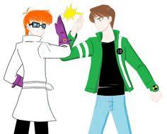 ♡ On Pinterest @ kitkatlovekesha ♡ ♡ Pin: Video Games ~ Fusionfall ~ Dexter & Ben 10 Drawing ♡