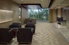 The Orlando Convention and Visitors Bureau (Orlando, FL) Swift lounge furniture in collaborate/open space. #NationalOffice #FurnitureWithPersonality