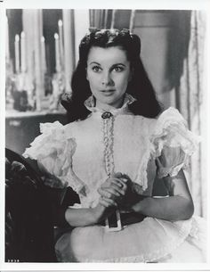 Vivien Leigh as Katie Scarlett O'Hara during prayers in 'Gone With The Wind'.