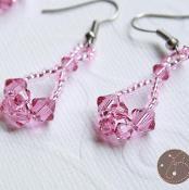 Crossweave Crystal Earrings - via @Craftsy