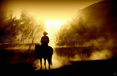 Heavenly Cowboy by running horse pictures, via Flickr