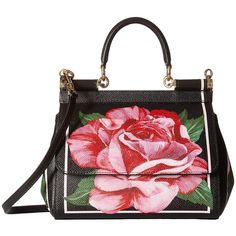 ae5465df247 Dolce & Gabbana Floral Printed Small Sicily Bag (Black) Bags ($1,606) ❤