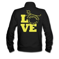 LOVE physical therapy Track Jacket   Spreadshirt   ID: 12346257 MEDIUM!!!