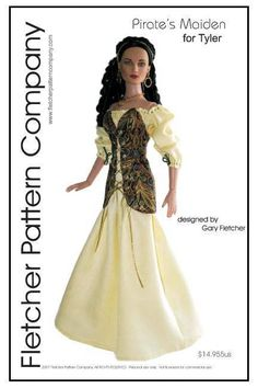 Evening Sophisticate sewing pattern for the Tyler Wentworth doll by Tonner