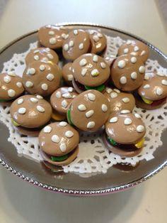 4 mini sliders hamburgers set miniature play by QueenEmmaDesigns, $4.00