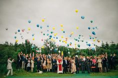 Stunning Icelandic Pagan Wedding with Lots and Lots of Balloons: Hrefna & Björn