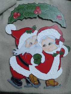 Navidad Christmas Holidays, Christmas Crafts, Christmas Decorations, Xmas, Santa Crafts, Quilted Ornaments, Tole Painting, Paper Quilling, Artsy Fartsy