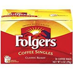 Folgers Coffee Singles Classic Roast Coffee Bags, 6 Ounce - 38 Count each (Pack of * Check out this great product. (This is an affiliate link) Folgers Coffee, Coffee Bags, Great Inventions, Instant Coffee, Coffee Roasting, Gourmet Recipes, Count, Packing, Link