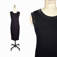 COS Black Sleeveless Cotton Dress with Ribbed Trim - XS #Cos #StretchBodycon