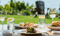 Discover your ideal vacation at The Breakwater Inn & Spa! Book your stay at our coastal hotel with a spa in Kennebunkport Maine today. Local Seafood, Seafood Dishes, Kennebunkport Maine, Hotel Inn, Beautiful Sunset, New England, Spa, Dinner, Restaurants