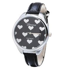 Leather Band Heart-shaped Alloy Dial Quartz