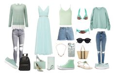 """""""Pastel Colors - Abril 💚"""" by xolafkax on Polyvore featuring AMIRI, Miss Selfridge, Mascara, Sophia Webster, Kate Spade, Topshop, M.i.h Jeans, Converse, Don't AsK and Casetify"""