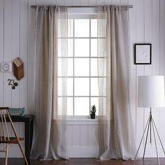 "I love the Mercer Woven Window Panel, 48""x84"", Flax on westelm.com"