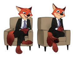 Nick Wilde looks foxy in that suit. lol XD