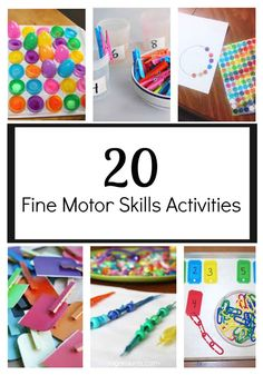 Fine motor skills are very important for preschoolers & toddlers to build. It will help develop the skills they need to do day-to-day things such as writing and tying their shoes. When it comes to fine motor skills activities you don't have to look far, because many of the items needed for these activities are sitting around your house.