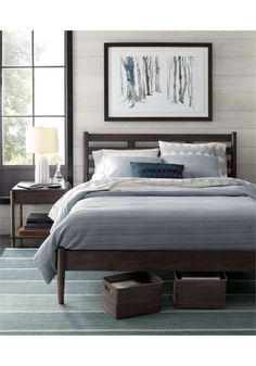 linea ii queen bed - crate and barrel | crates, barrels and queen beds