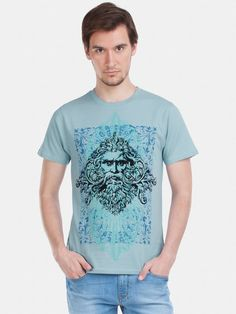 Zovi Momento Aviator Blue Graphic T-shirt - Zovi Mens Tees