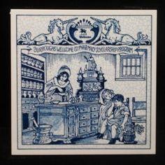 """Burroughs tile -- """"Women in pharmacy"""" :)"""