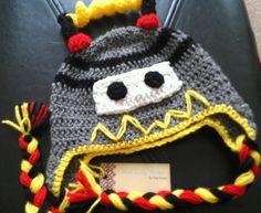 Cute Robot Crochet Hat