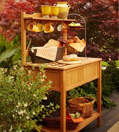 Outdoor sideboard for gardening and entertaining