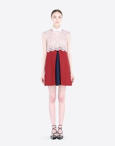 Valentino | Dress in crepe couture and heavy lace | http://www.valentino.com/gb/dresses_cod49151832ut.html