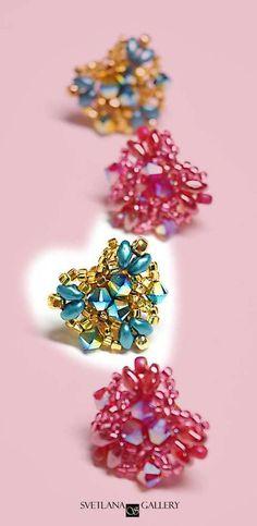 Super Quick Heart Shape Beaded Earring Project #beading #beadwork #beaded #beadedearrings #hearts #crafts #handmadejewelry