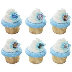 Disney Frozen: Cupcake Rings (Large) 6 Pk Party Supplies Canada - Open A Party