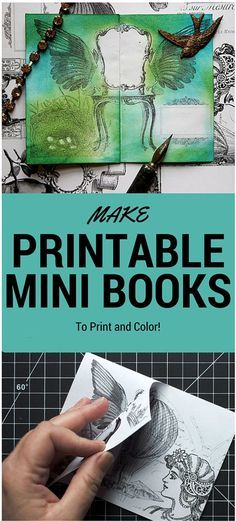 Make Printable Mini Books by Thicketworks for The Graphics Fairy! This is such a fun Printable crafts project to create and color!