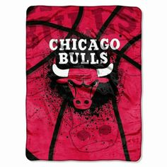 Chicago Bulls NBA Shadow Play Micro Raschel Throw by The Northwest - NBA Shadow Play Micro - Polyester  $39.99