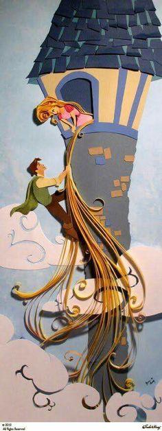 Rapunzel paper art