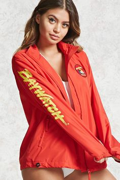 cc551e0f0bb4 Baywatch Graphic Windbreaker Baywatch Outfit