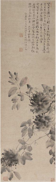 明代 - 徐渭 -《水墨牡丹》