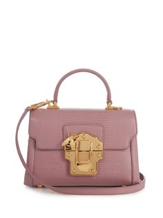 Lucia mini lizard-effect leather bag | Dolce & Gabbana