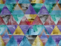 "Jersey ""Triangles"", Digitaldruck von Käpynen Triangles, Bunt, Etsy, Quilts, Blanket, Contemporary, Vintage, Home Decor, Craft Gifts"