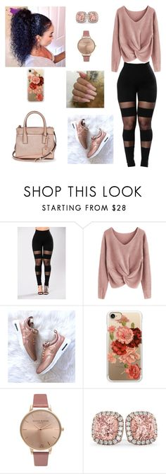 """""""Untitled #785"""" by honeycombs23 ❤ liked on Polyvore featuring Casetify, NARS Cosmetics, Olivia Burton, Allurez and Kate Spade"""