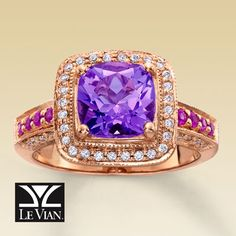 Levian Cotton Candy Amethyst, Diamond and Pink Sapphire engagement ring.  This is my dream engagement ring!!! TL